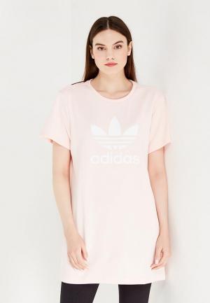 Платье adidas Originals. Цвет: розовый