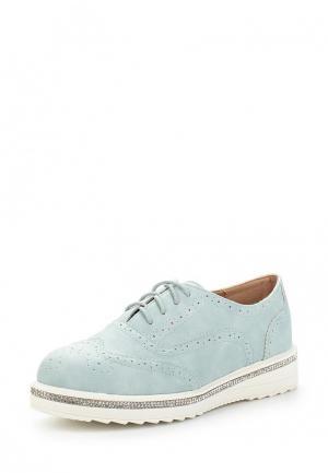 Ботинки Ideal Shoes. Цвет: голубой