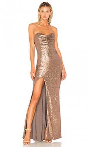 Вечернее платье valentina Nookie. Цвет: металлический бронзовый