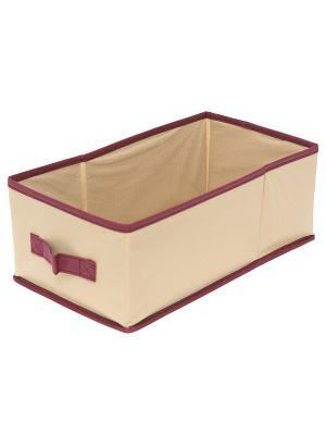 Большой ящик с ручкой Comfort (37*20*14) Homsu. Цвет: бежевый