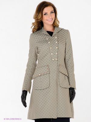Пальто Elena Shumilo. Цвет: оливковый, коричневый