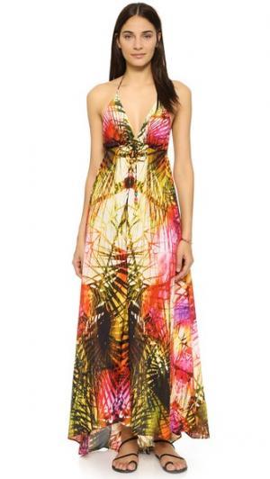 Платье Geo Palm Sun Lotta Stensson. Цвет: коричневый