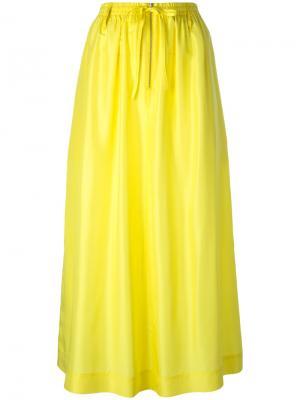 Пышная юбка миди Joseph. Цвет: жёлтый и оранжевый