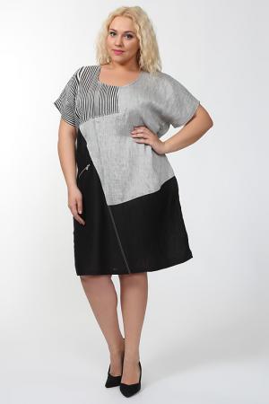 Платье Qneel. Цвет: черный, белый