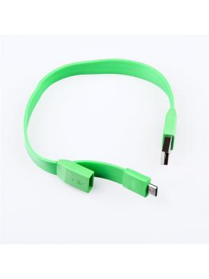 Usb кабель Pro Legend Micro браслет, 25см., зеленый. Цвет: зеленый