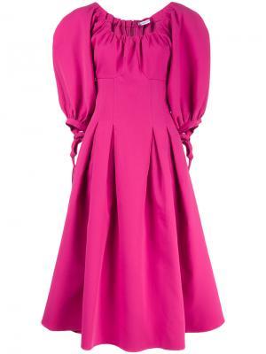Платье миди с объемными рукавами Rejina Pyo. Цвет: розовый и фиолетовый