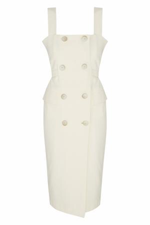 Хлопковое платье MoS. Цвет: молочный