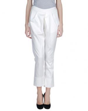 Повседневные брюки ANDREA TURCHI. Цвет: белый