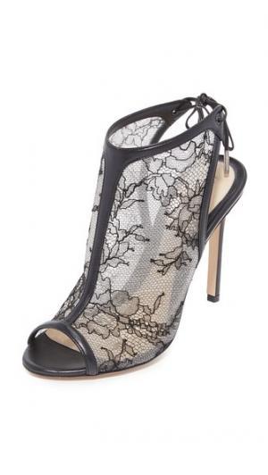 Кружевные сандалии на каблуке Felicity Monique Lhuillier. Цвет: голубой