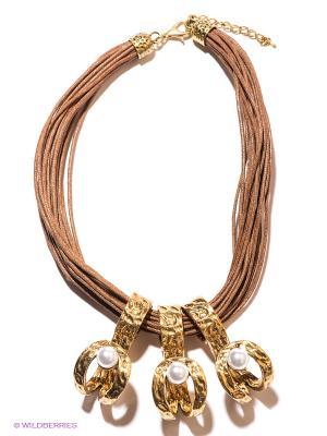 Колье Infiniti. Цвет: золотистый, коричневый, молочный