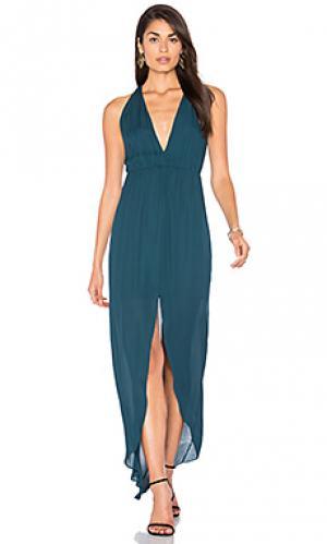 Вечернее платье hampton Rory Beca. Цвет: сине-зеленый