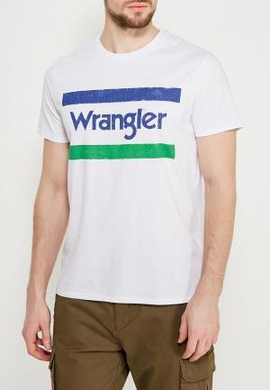 Футболка Wrangler. Цвет: белый