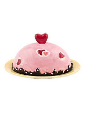 Масленка Biscuits Elff Ceramics. Цвет: розовый