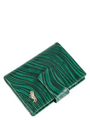 Визитница Labbra. Цвет: зеленый, серый, темно-зеленый