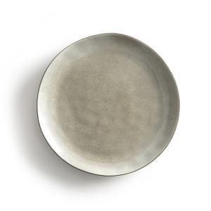 4 тарелки плоские из керамики Horciag AM.PM.. Цвет: серо-зеленый