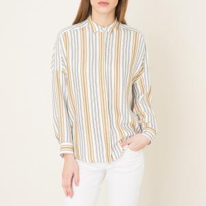 Рубашка оверсайз DARLING MA SESSUN. Цвет: белый/ черный,темно-бежевый