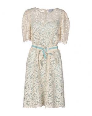 Короткое платье LUISA BECCARIA. Цвет: бежевый