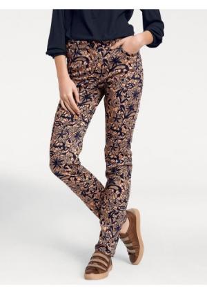 Моделирующие брюки ASHLEY BROOKE by Heine. Цвет: темно-синий/светло-коричневый
