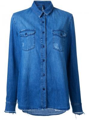 Рубашка Old Fav Shirt Collector Nobody Denim. Цвет: синий
