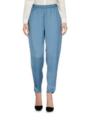 Повседневные брюки STEFANEL. Цвет: грифельно-синий