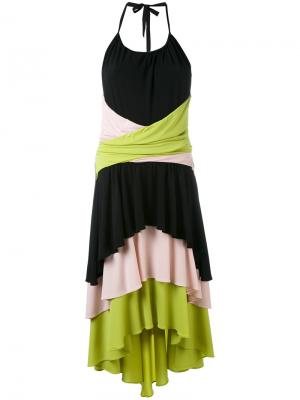 Ярусное платье Marco Bologna. Цвет: многоцветный