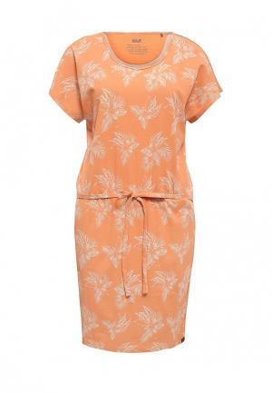 Платье Jack Wolfskin. Цвет: оранжевый