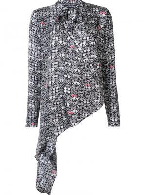 Шелковая блузка Stash Thomas Wylde. Цвет: чёрный