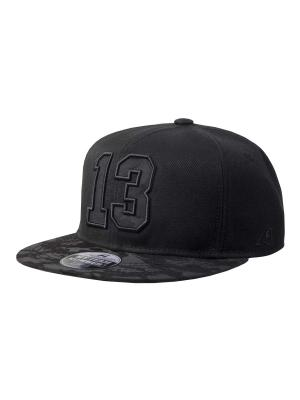Бейсболка номерная Atributika & Club. Цвет: черный