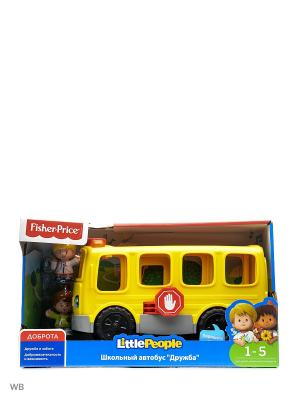 Little People Школьный Автобус Дружба Mattel. Цвет: синий