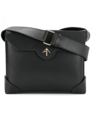 Прямоугольная сумка на плечо Manu Atelier. Цвет: чёрный