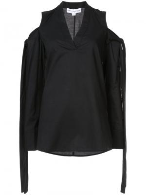 Блузка с открытыми плечами Robert Rodriguez. Цвет: чёрный