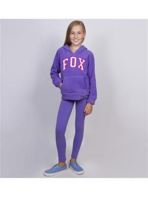 Леггинсы FOX. Цвет: темно-фиолетовый