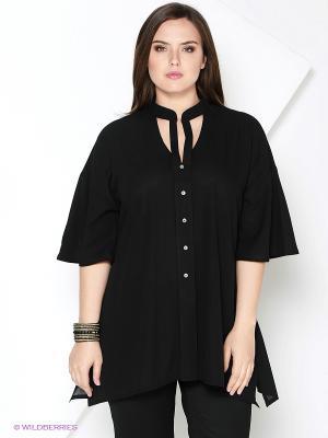 Блузка SVESTA. Цвет: черный