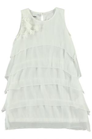 Платье IDO. Цвет: бежевый