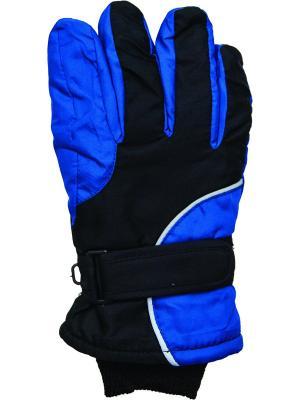 Перчатки YO!. Цвет: голубой