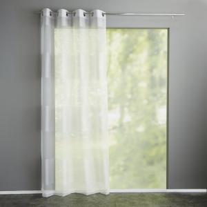 Занавеска в полоску, с люверсами, Justor La Redoute Interieurs. Цвет: белый