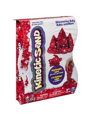 Песок для лепки драгоценные камни, Kinetic sand, 455гр, цвет красный SPIN MASTER. Цвет: красный
