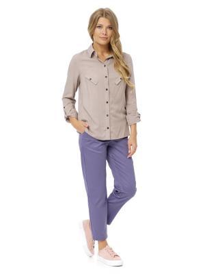 Рубашка Gloss. Цвет: светло-коричневый