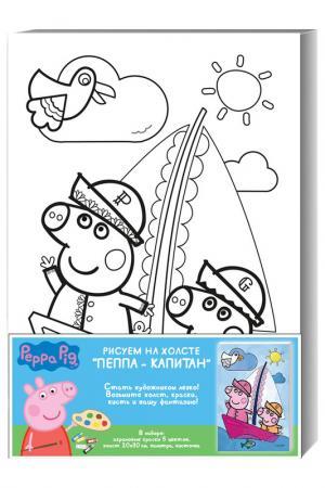 Роспись Пеппа-капитан Peppa Pig. Цвет: голубой