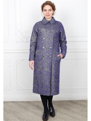 Пальто po Pogode. Цвет: салатовый, синий