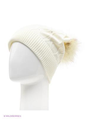 Колибри Беркле шапка женская с помпоном Berkle. Цвет: молочный