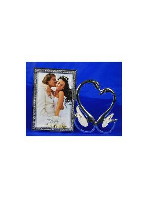 Фоторамка С любовью Русские подарки. Цвет: серебристый