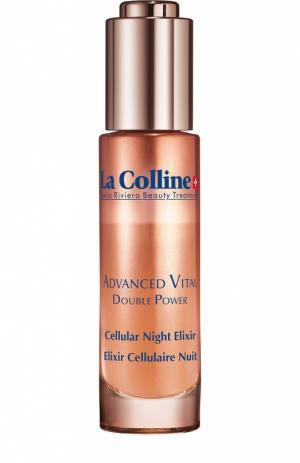 Ночной эликсир для лица с клеточным комплексом Cellular Advanced Night Elixir La Colline. Цвет: бесцветный