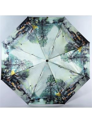 Зонт Trust. Цвет: светло-зеленый, желтый, серый