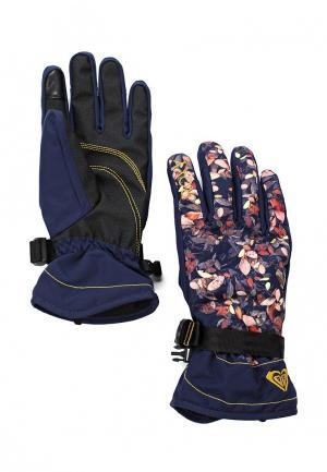 Перчатки горнолыжные Roxy. Цвет: синий