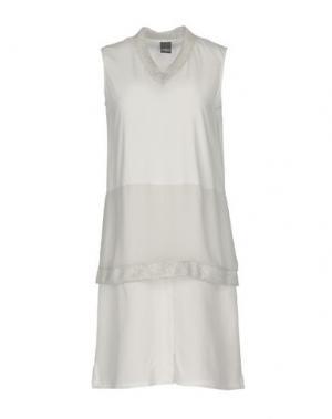 Короткое платье LORENA ANTONIAZZI. Цвет: светло-серый