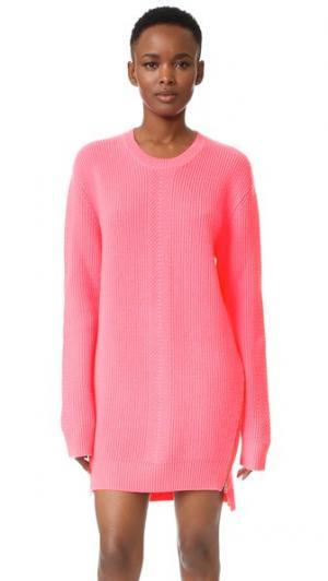 Платье-свитер с округлым вырезом и шевронами McQ - Alexander McQueen. Цвет: голубой