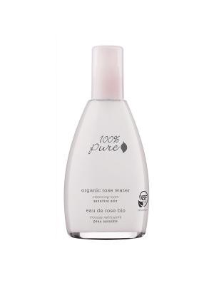 Коллекция Розовая вода: Органическая пенка для умывания 100% Pure. Цвет: прозрачный