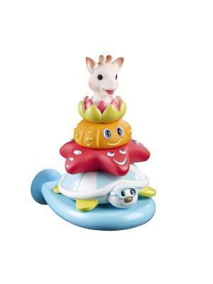 Игрушка для ванной Пирамидка Sophie la girafe. Цвет: красный, белый, голубой, зеленый, оранжевый