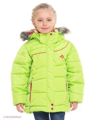 Куртка Jupa. Цвет: салатовый, розовый
